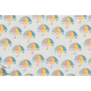 Tissu Coton Umbrella Gris