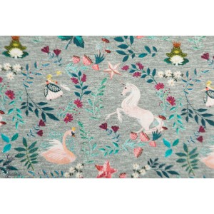 Freanch terry Hilco Embroidery Swan fée princesse licorne cygne fille