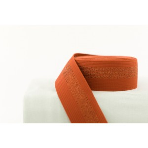 Elastique Soft Cactus Rouille avec ligne or rouge syas