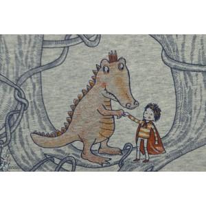 Jersey Bio Krokosaurus Chiné Lillestoff susalabim
