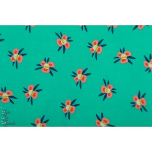 Popeline Hamburger Liebe Lily Pond turquoise