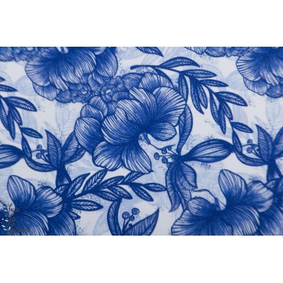 Summersweat bio Daphné Lillestoff fleur bleu enemenemeins