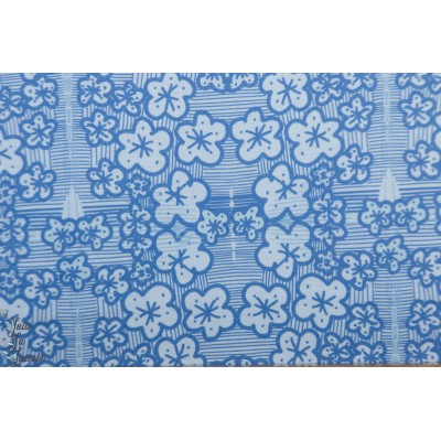 Modal Lillestoff Ayumi graphique mode femme bleu