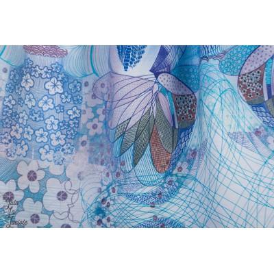 Modal Lillestoff AKira graphique mode femme bleu