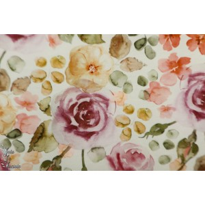 Jersey family Fabrics English Garden rose retro vntage