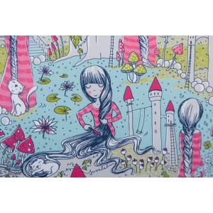 Jersey Bio Rapunzel - Raiponce - princesse - susalabim - lillestoff - fille