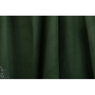 Velours milleraies Olive hilco fine cote vert