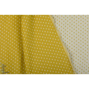 Double Gaze Jacquard Jaune Double Face carreau