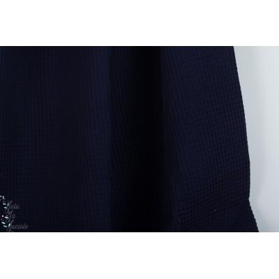 Tissu gaufré Hilco Marine waffle bleu layette
