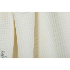 Tissu Gaufré Blanc waffle