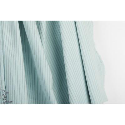Velours grosse cote fibre Mood Bleu clair drew blue