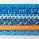 popeline coton bio, ours graohiques,Polar Party M Bleu R de chez Soft cactus