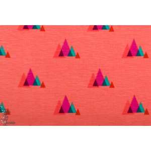 Sweat Molletonné Hamburger Liebe Mountains corail montagne graphique cozy cabin