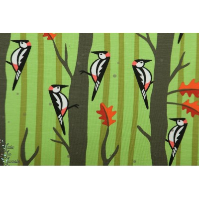 jersey hamburger Liebe Will Woodpecker vert oiseau graphique cozy cabin