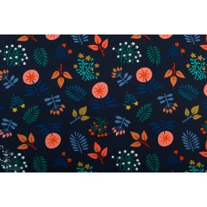 canvas Wild Wonders navy hamburger liebe fleur cozy cabin