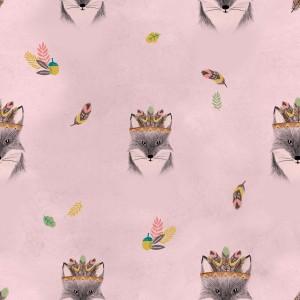 Tissu imperméable Main Fox Pink katia