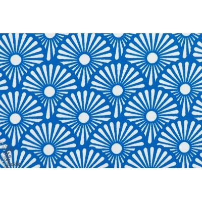 popeline coton bio de soft cactus Blowballs - M - Bleu