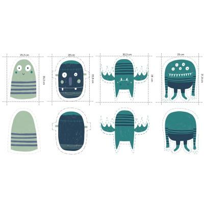 Panneau jersey Halloween Panel doudou oreiller coussin monstre