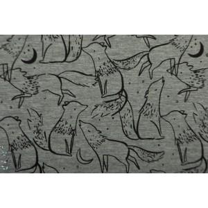 Sweat chiné Wolves Coord loup graphique mélangé gris animaux