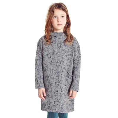 Patron Katia K14 - Robe en tissu molletoné sweat fille couture