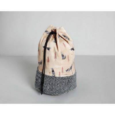 Patron Katia A15 - Besace combinée couture tricot sac