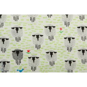 Popeline Bio Sheep Cloud9 - Collection favorites by Ed Emberley
