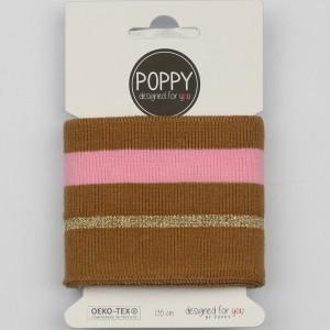 Cuff Poppy 6564 Lurex MARON ROSE