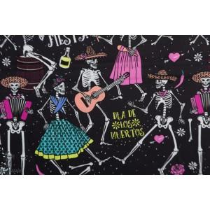 """popeline '"""" Dea de los Muetos"""" halloween jour mort skelette"""