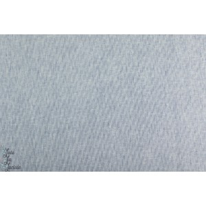 Coton lin mini rayure blanc bleu