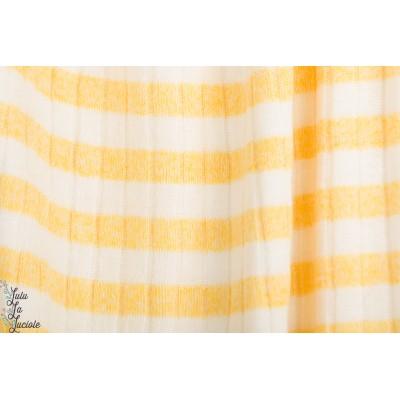 jersey Ripstick rayé jaune et blanc