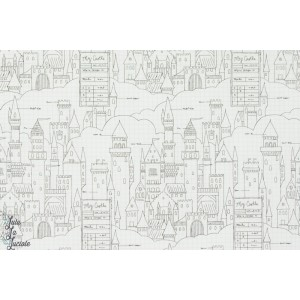 Tissu Color Me Chateau saraj jane magic michael miller popeline enfant