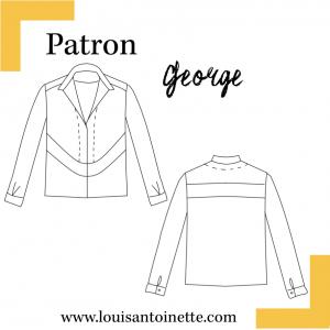 Patron top george couture louis et antoinette pochette femme mode