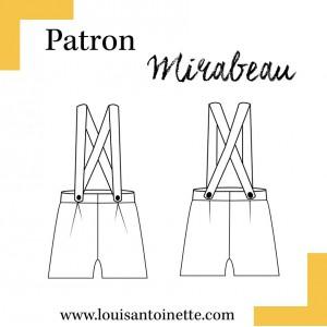 Patron Louis et Antoinette Mirabeau couture short femme pochette