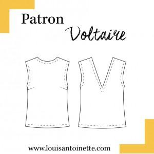 Patron top Voltaire Louis et Antoinette