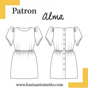Patron robe Alma Louis et Antoinette