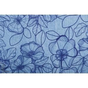 Modalsweat Lillestoff Deninflower Bleu