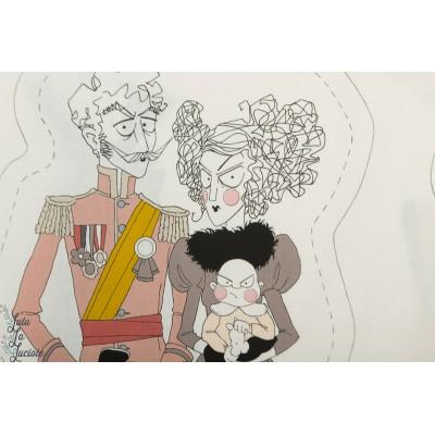 """panneau""""the Ghastlies Project"""" Alexandre Henry fabric coussin poupée"""