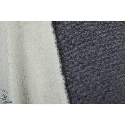 Sherpa jeansblau Bio Lillestoff teddy fourure epais chaud