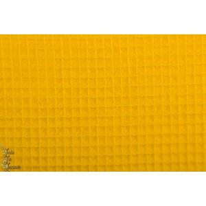 Tissu Gaufré Hilco moutarde bébé jaune