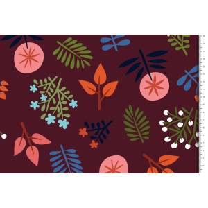 canvas Wild Wonders bordeaux Cosy cabin Hamburger Liebe