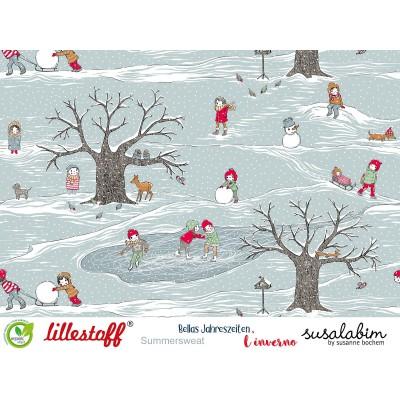 Bellas Jahreszeiten, der Winter, Susalabil hiver noel neige enfant lillestoff sweat bio  saison