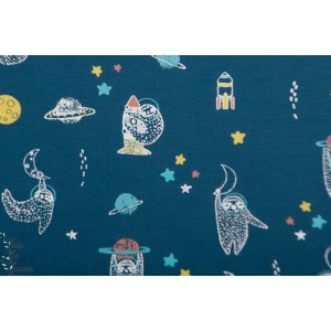 jersey bio hanging in ther blue paresseux animaux enfant poppy