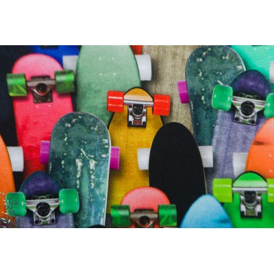 Jertsey Digital Keep it rolling skate board ado enfant garçon poppy