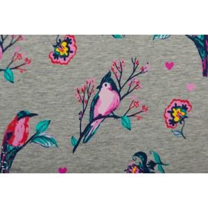 Sweat  Brossé Oiseau quality textile