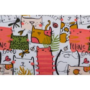 Sweat french terry feline good chat enfant poppy