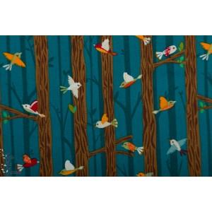 Popeline Bear camp oiseaux Windham oiseau graphique nature arbre