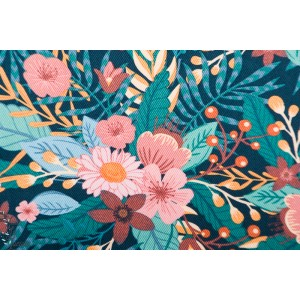 Canvas SYAS Bouquet Flowers fleur soft cactus gabardine
