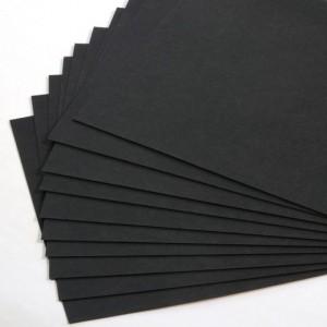 Feuille A4 SNAP PAP noir cuir vegan
