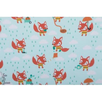 Summersweat Bio Fox rainday Lillestoff Bora renard pluie enfant