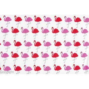 tissu Jersey Bio Flamands roses et rouges stenzo géométrique fille